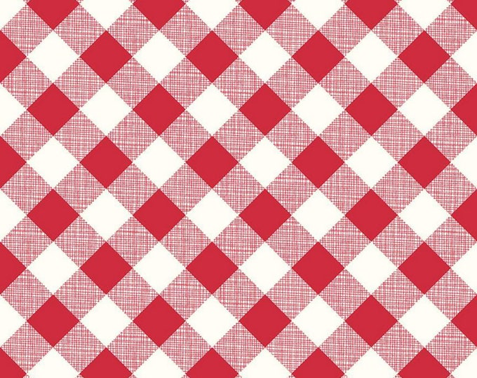 Red - Gingham - My Happy Place - Home Décor - Quilting Fabric - by Lori Holt of Bee in my Bonnet for Riley Blake Designs - ( HD9315-RED )