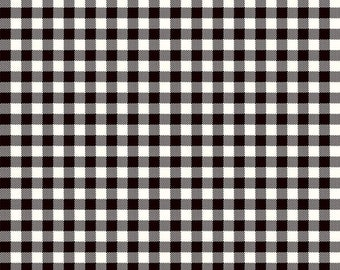 Wild at Heart Buffalo - Black - Plaid - Quilting Cotton Fabric - by Lori Whitlock for Riley Blake Designs - ( C9827-BLACK )