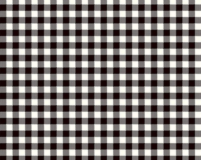 Black - Plaid - Wild at Heart Buffalo - Quilting Cotton Fabric - by Lori Whitlock for Riley Blake Designs - ( C9827-BLACK )