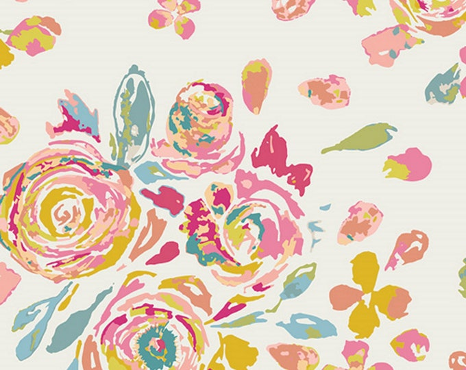 Swifting Flora Fond - Fleet & Flourish Collection - Quilting Fabric - by Maureen Cracknell for Art Gallery Fabrics - AGF - ( FLO-8128 )