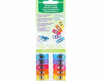 Wonder Clips - Assorted Colors - 10 pack - ( 3185CV )