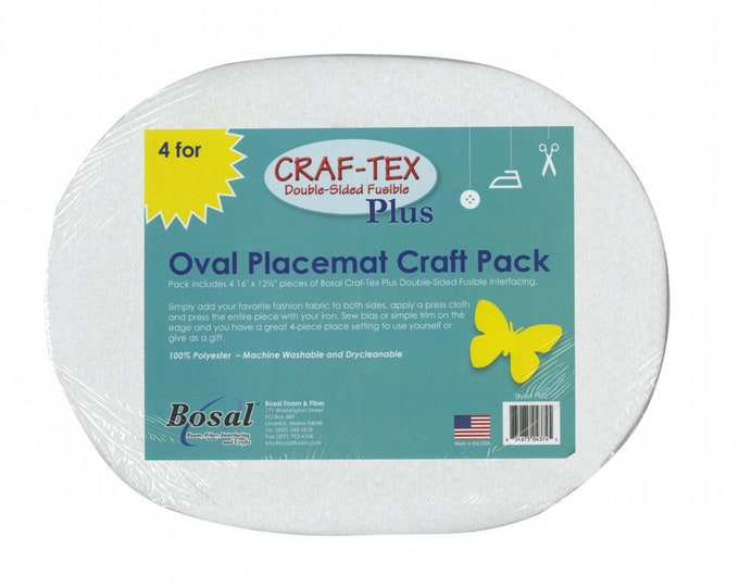 Placemat - Craf-Tex Pack - Interfacing Oval - 16in x 12-1/2in - 4pk - ( PM-2B )