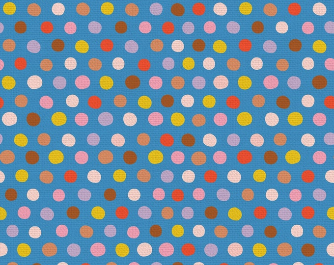 Blue - Polka Dots - Step Right Up Collection - Quilting Fabric - by Suzy Ultman for Paintbrush Studios - ( PSF120-21351 )