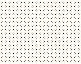 Le Creme Swiss Dot Collection - Black - Polka Dot - Quilting Cotton Fabric - Riley Blake Designs - ( C600-110-BLACK )