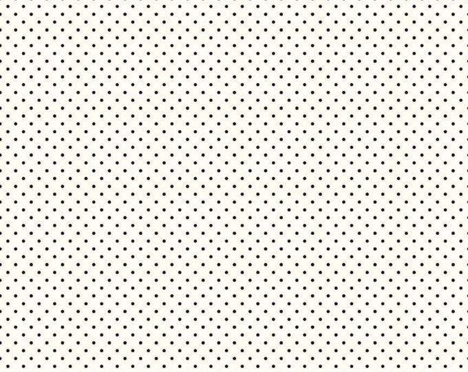 Black - Le Creme Swiss Dot - Polka Dot - Quilting Cotton Fabric - Riley Blake Designs - ( C600-110-BLACK )