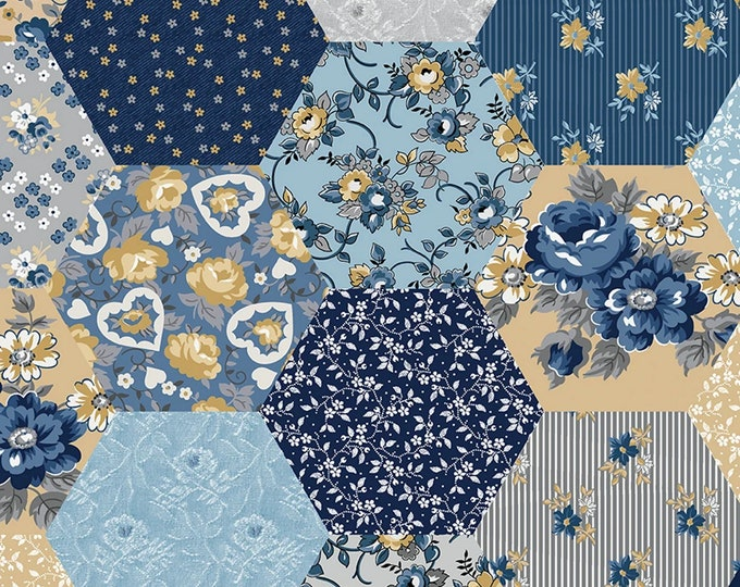 Multi - Wide Back - Delightful - Patchwork - by Gerri Robinson of Planted Seed Designs for Riley Blake Designs - ( WB10258-MULTI )