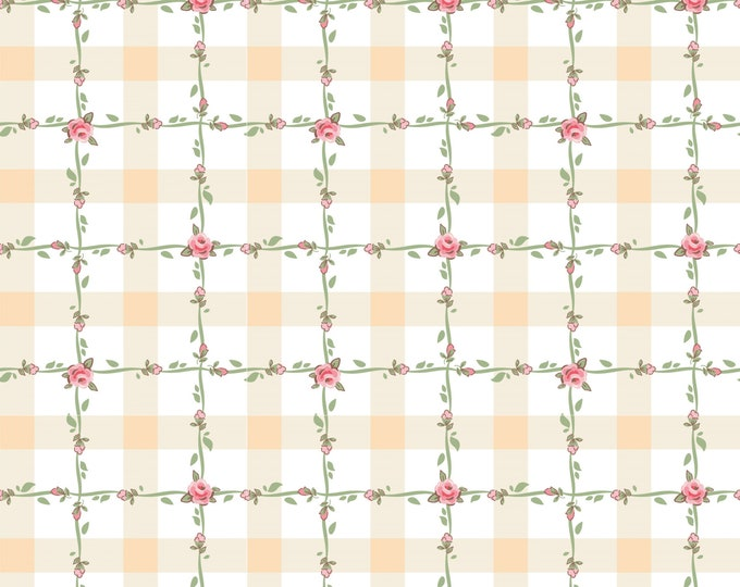 White - Criss Cross - Dots and Posies Collection - Quilting Cotton Fabric - by Poppie Cotton Fabrics - ( DP20418 )