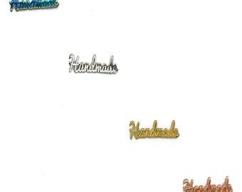 Handmade Handwriting Label - Tag - Bag Hardware - Multiple Colors - by Emmaline - ( LABEL-HANDWRITING )