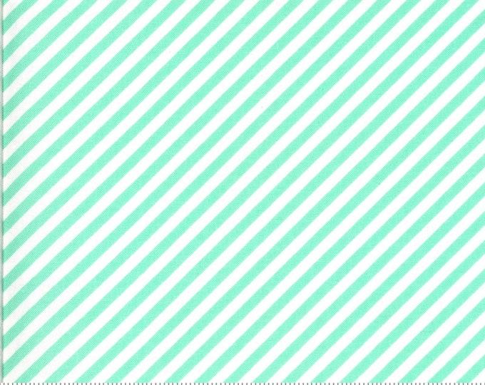 Aqua - Stripes - Diagonal - Shine On Collection - by Bonnie and Camille - Moda - ( 55215-AQUA )