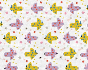 Step Right Up Collection - Purple - Yellow - Cannonball - Quilting Cotton Fabric - by Suzy Ultman for Paintbrush Studios -( PSF120-21348 )