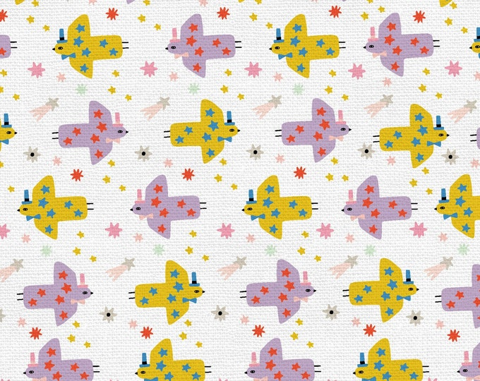 Purple - Yellow - Cannonball - Step Right Up Collection - Quilting Cotton Fabric - by Suzy Ultman for Paintbrush Studios -( PSF120-21348 )