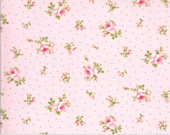 Sophie Collection - Blossom - Pink - Floral - Quilting Cotton Fabric - by Brenda Riddle for Moda - ( 18711-14-BLOSSOM )