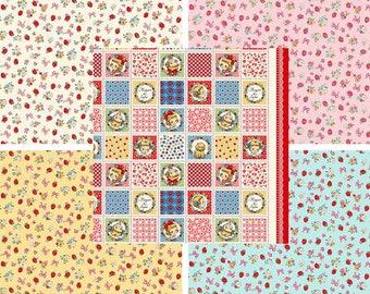 Dear Little World: Margaret & Sophie III Collection - Curated Fat Quarter Bundle - 5 Prints - Quilt Gate - ( QUGLW2000-FQ )