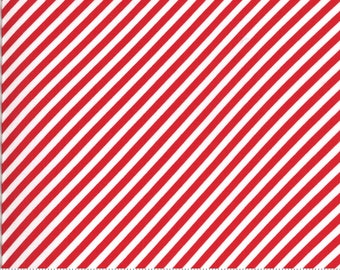 Shine On Collection - Red - Diagonal Stripes - by Bonnie and Camille - Moda - ( 55215-RED )