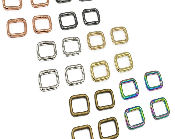 """Rectangle Ring - 3/4"""" inch - by Emmaline - .75"""" Inch - 18mm - Multiple Colors - Bag Hardware - ( REC-3/4INCH )"""