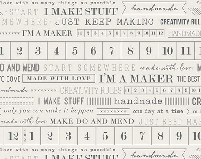 Im A Maker - Quilting, Apparel, Cotton Fabric - Create - by Maker for Art Gallery Fabrics - AGF - ( MKR-3891 )