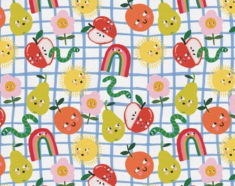 Food Face - Sunny Flowers - Multi/White- by Corinne Lent Collection - Paint Brush Studios - ( 120-21935 )