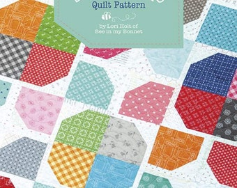 Pattern - Sugar Stars Quilt Pattern - by Lori Holt of Bee in My Bonnet for Riley Blake Designs - ( P018-SUGARSTARS )