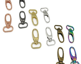 "Swivel Snap Hooks- 1"" inch - by Emmaline - 25mm - Multiple Colors - Bag Hardware - ( HOOK-1INCH )"