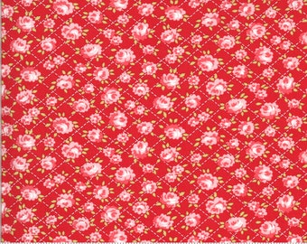 Shine On Collection - Red - Roses - Quilting Cotton Fabric - by Bonnie and Camille - Moda - ( 55214-RED )