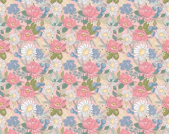 Pink - Country Roads - Country Roads Collection - Quilting Cotton Fabric - by Poppie Cotton Fabrics - ( CR20151 )