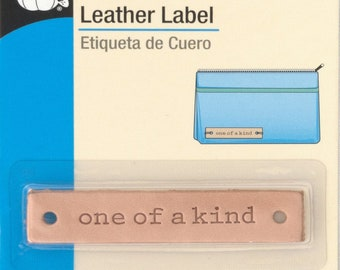Leather Label - One of a Kind - Tag - by Dritz - ( 777D )
