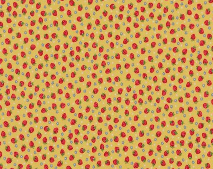 Yellow - Strawberries - Little Strawberry Generation Collection - by Atsuko Matsuyama - ( AMSTRAW-YELLOW )