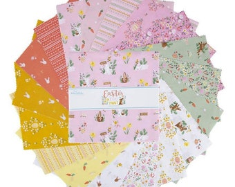 """Easter Egg Hunt Collection - 10"""" inch Stacker - Quilting Cotton Fabric - by Natàlia Juan Abelló  for Riley Blake Designs - ( 10-10270-42 )"""