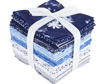 Blue Stitch - Collection - Fat Quarter Bundle - 24 Fabrics - by Christopher Thompson for Riley Blake Designs - ( FQ-10060-24 )
