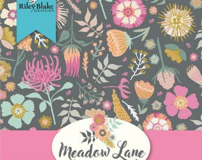Meadow Lane - Fat Quarter Bundle - 18 Fabrics - by Sara Davies for Riley Blake Designs - ( FQ-10120-18 )