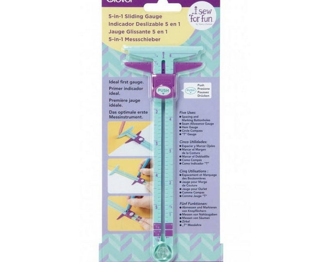 Ruler - Sliding Gauge - 5 in 1 - I Sew For Fun - ( 9607CV )