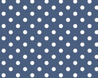Notting Hill Collection - Denim - Blue - Dots - by Amy Smart for Riley Blake Designs - ( C10203-DENIM )