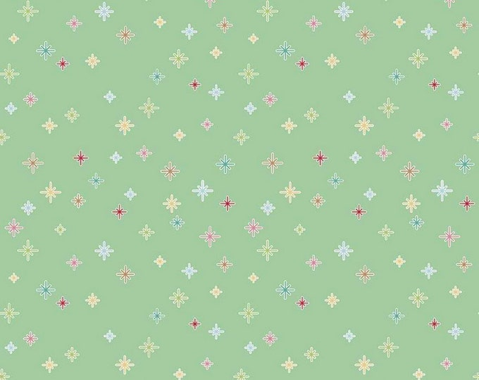 Mint - Cozy Christmas Sparkle - Collection - Quilting Cotton - by Lori Holt of Bee in My Bonnet for Riley Blake Designs - ( C5365-MINT )