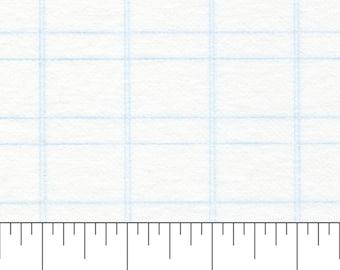 "Interfacing - 1"" inch Grid - Fusible Interfacing - 48"" inch width - Bosal - ( 327AB-WHT )"