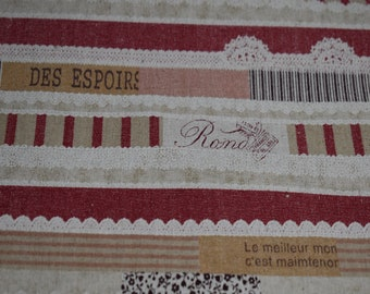 Red - Kokloa Cloth Mix Idee - Canvas - Linen - - KOKKA - ( LOA-31020-002-B )