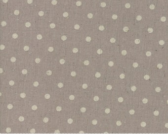 Linen - Linen Mochi Dot Collection - Putty - Dots - Linen - by Momo - Moda - ( 32910 22L )