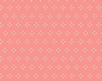 Poppy & Posey Collection - Coral - French Knots - Quilting Cotton Fabric - by Dodi Lee Poulsen for Riley Blake Designs ( C10584-CORAL )