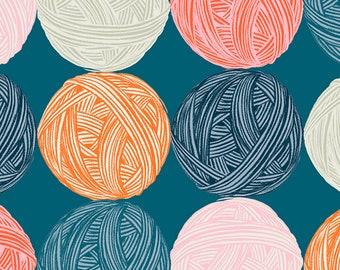 Linen - Purl - Teal - Balls of Yarn - by Sarah Watts - Ruby Star - Moda - ( RS2030 12 )