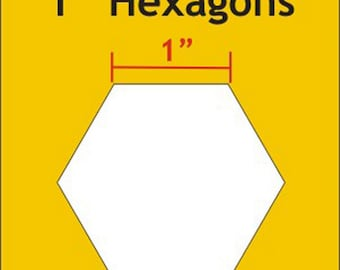 "Paper Piecing - 1"" inch - Hexagon Papers - English Paper Piecing - 100 Count - ( HEX100 )"