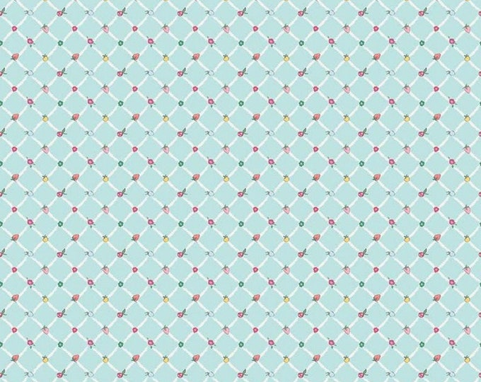 Aqua - Crosswalk - Moments Collection - Quilting Cotton Fabric - Minki Kim for Riley Blake Designs - ( C9016-AQUA )