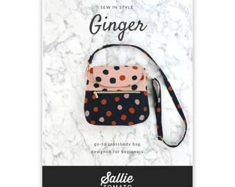 Pattern - Ginger - Medium Size Crossbody Bag Pattern - Sallie Tomato - ( LST128P )