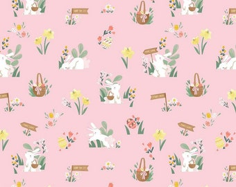 Easter Egg Hunt Collection - Pink - Powder - Main - Quilting Fabric - by Natàlia Juan Abelló for Riley Blake Designs - ( C10270-POWDER )