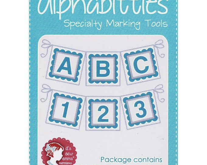 Alphabitties - Blue - Specialty Marking Tools - Letters & Numbers - by Its Sew Emma - ( ISE707 )