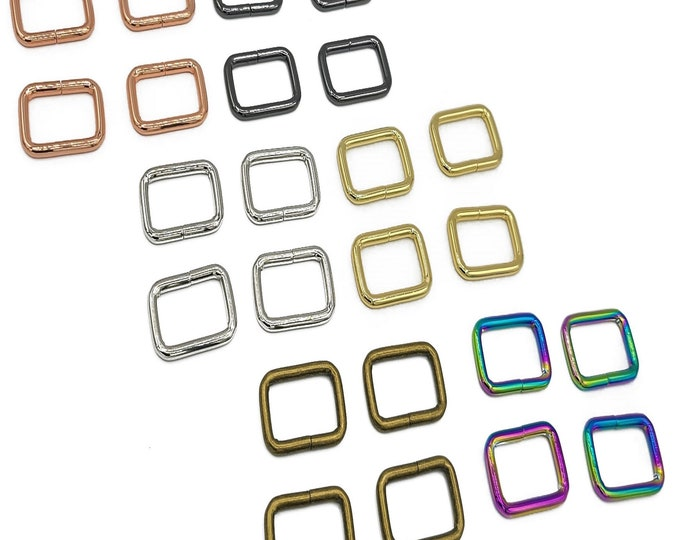 """Rectangle Ring - 1"""" inch - by Emmaline - 1 Inch - One Inch - 25mm - Multiple Colors - Bag Hardware - ( REC-1INCH )"""