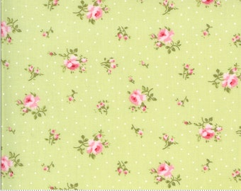 Sophie Collection - Light Green - Floral - Quilting Cotton Fabric - by Brenda Riddle for Moda - ( 18711-15-SPROUT )