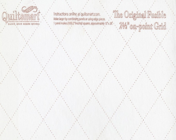"Grid on Point - 2.5"" inch - 2-1/2 inch - Fusible Interfacing - Grid - Quiltsmart - "" Tips in Description-PDF"" - ( QS65064 )"