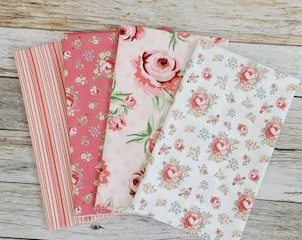 Floral - Collection - Fat Quarter - Curated Bundle - 4 Fabrics - ( FQ-4-FLORAL )