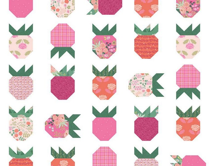 Pattern - Strawberry Fields - Quilt Pattern - Citrus & Mint Designs - ( P159-STRAWBERRY )