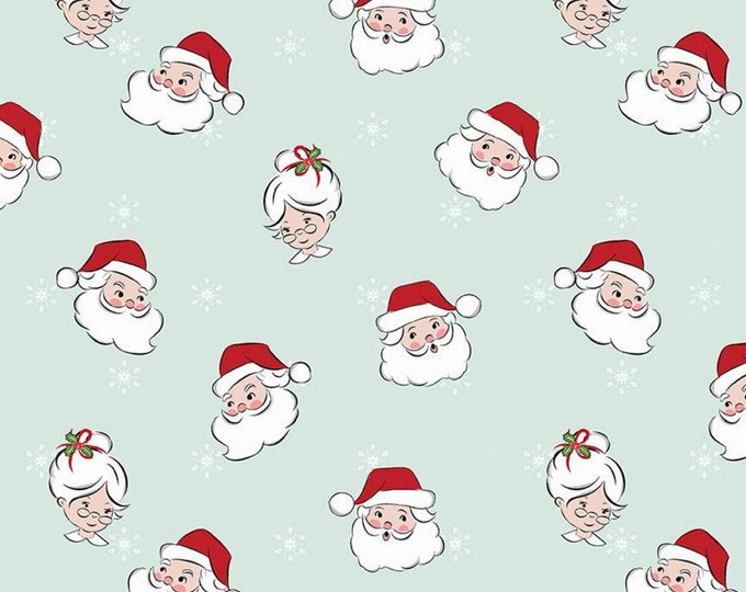 Mint - Mr & Mrs Claus - Santa Claus Lane Collection - By Melissa Mortenson of Polka Dot Chair for Riley Blake Designs - ( C9610-MINT )