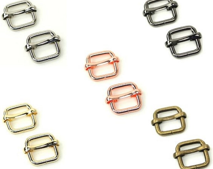 """Slide Buckle - 1/2"""" inch - .5"""" inch - 12mm - by Sallie Tomato - ( STS123 )"""